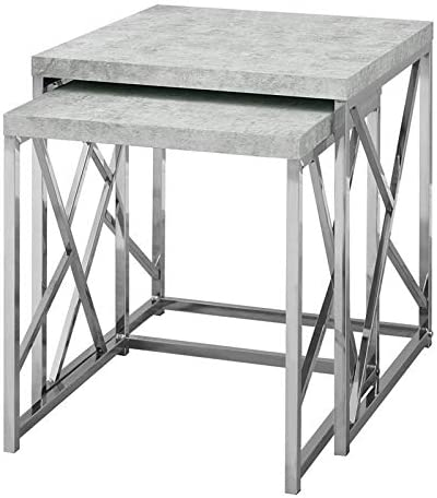 Natural Greige 2 Piece Nesting Table Set