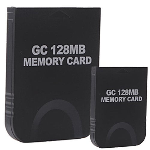 HDE 2 Pack of 128 MB Gaming Memory Cards for Nintendo Wii and Gamecube (Black) (Animal Crossing Game To Play On Computer)