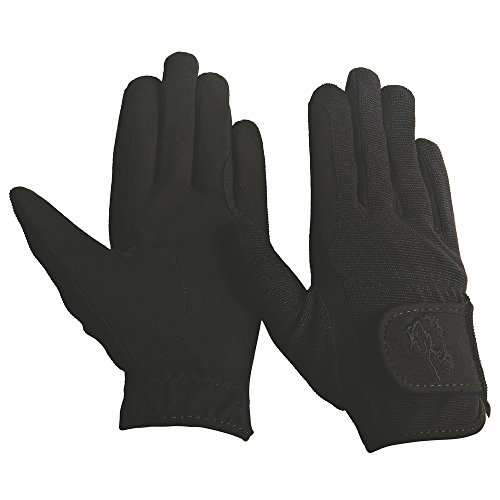 TuffRider Children's Performance Gloves (Black, S)
