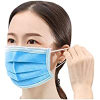 Disposable 𝐌𝐀𝐒𝐊 Box of 50, 3-Ply Protective Anti Dust Breathable Medical Beauty Unisex Disposable Earloop Mouth Face…