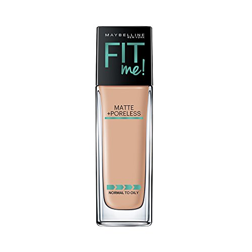 Maybelline New York Fit Me Matte + Poreless Liquid Foundation Makeup, Buff Beige, 1 fl. oz. Oil-Free Foundation