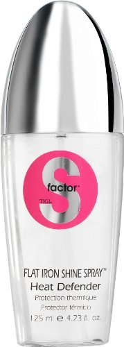TIGI S-Factor Flat Iron Shine Spray - Heat Defender - 4.2 oz