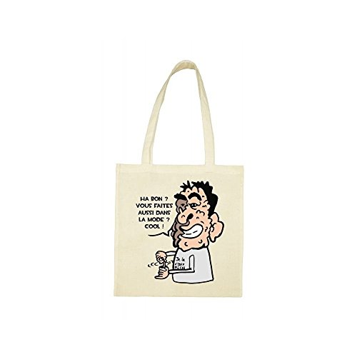 Tote bag beige Tote bag beige Tote caricature caricature bag caricature beige OqB6Fwq