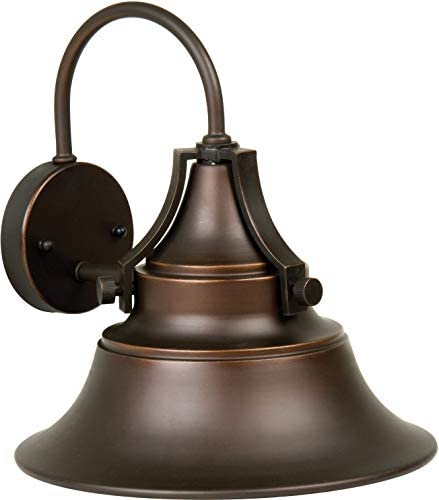 Craftmade Z4424-OBG Union Industrial Outdoor Wall Mount Sconce Lighting, 1-Light, 100 Watts, Oiled Bronze Gilded 15 W x 16 H