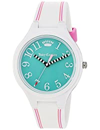 Juicy Couture Women's 'Day Dreamer' Quartz Plastic and Silicone Casual Watch, Color:White (Model: 1901564)