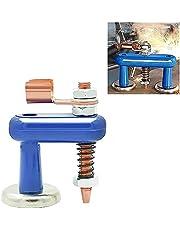 Lasmagneetkop - Aardingsklem voor elektrische lasmachine, met 2 veren en geleidende pilaren, steunklem Stabiliteit Sterk vaste aardingskop (Single)