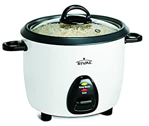 Amazon.com: Rival 10-Cup Rice Cooker with Steamer Basket