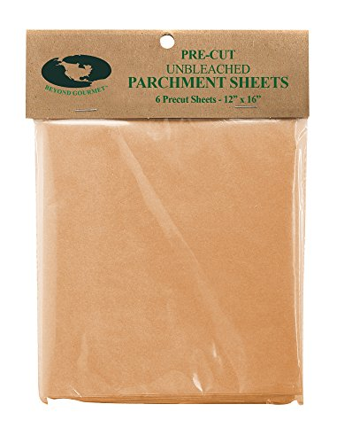 "Beyond Gourmet Pre-Cut Half-Size Non-Stick Parchment Paper (6 Sheets), Made in America, 12"" x 16"""