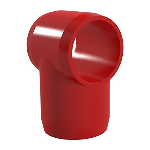 """UPC 812039025776, FORMUFIT F114STE-RD-4 Slip Tee PVC Fitting, Furniture Grade, 1-1/4"""" Size, Red (Pack of 4)"""