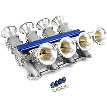fits Ford 302 351C Cleveland Downdraft EFI Stack Intake Manifold System Satin
