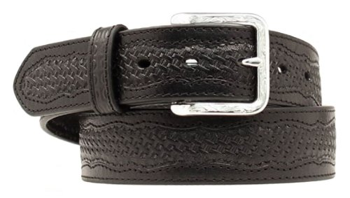M & F Western Men's Nocona Basketweave Belt Black 36