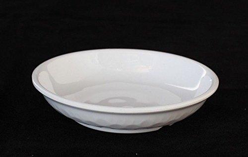 Z moments Melamine Soy Sauce Round Dishes Wasabi Sushi Sashimi Snack Dipping Plates, 3-1/4'' dia (1 oz), White (60)