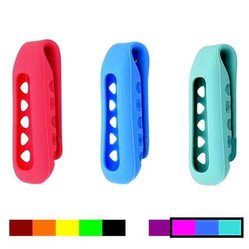 Dunfire Colorful Replacement Clip Holder for Fitbit One Wireless Activity Plus Sleep Tracker (3PCS)