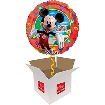 Amazon.com: InterBalloon ¡Feliz cumpleaños. Mickey Mouse ...