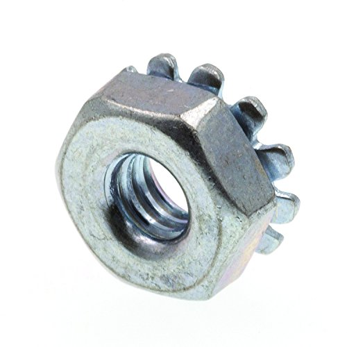 (Prime-Line 9118785 K-Lock Nuts With External Tooth Washer, #8-32, Zinc Plated Steel, 50-Pack )
