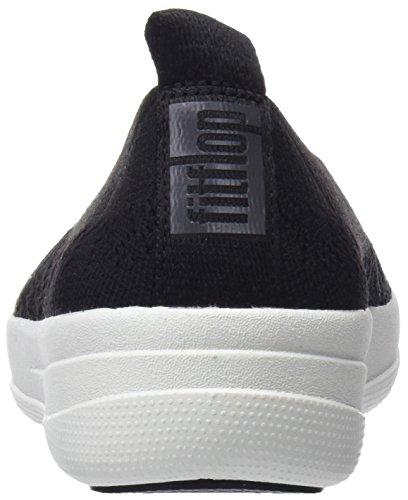 Mujer Uberknit 001 sin On Cordones Black nbsp;Slip Fitflop para Negro Zapatillas 0yq11d