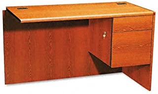 product image for HON 10700 Series 48 by 24 by 29-1/2-Inch L Workstation Return with 3/4 Pedastal, Right, Henna Cherry