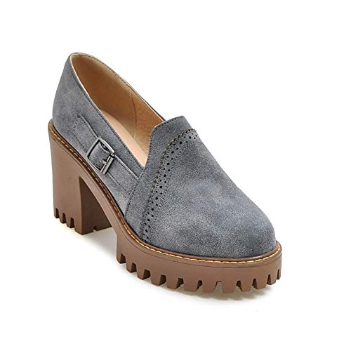 Wine Mujer Heel Chunky Heels de y Primavera Poliuretano Zapatos Wine Verano ZHZNVX Comfort PU Yellow Grey xZfaag