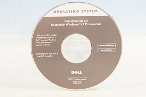 Dell Reinstallation CD Microsoft Windows XP Professional P/N: 6U814 Operating System Driver PC Computer Software Program Recovery Replacement Disc