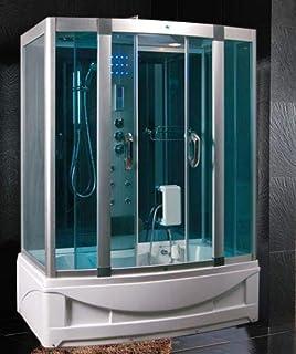 Bagno Italia - Cabina de ducha con bañera de 6 chorros de ...