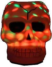 Partyforte Halloween YX19-04 Halloween 6in Disco - Light LED Candy Holder - Skull