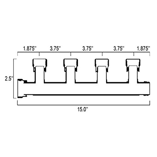 1'' 4 Valve Manifold Setup for Irrigation System - Rainbird 100DVF Valves Included by Dura