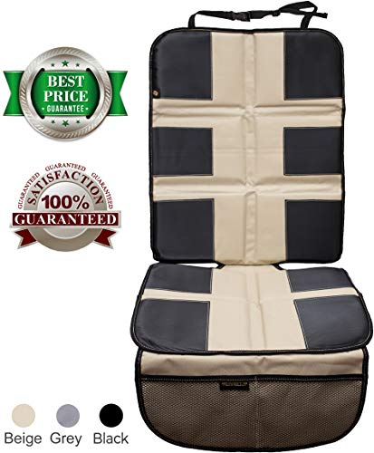 Car Seat Protector by Shmidt'S - Luxury Car Seat Cover Summer/Winter for Baby & Child - Anti-Slip,...