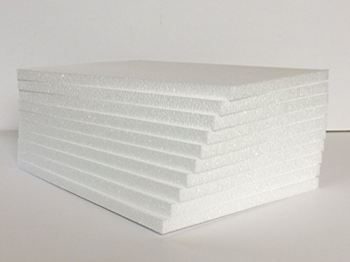 styrofoam-sheets-8-1-2-x-11-x-1-2-white-lot-of-10