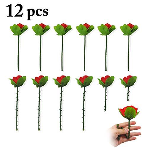 B bangcool 12PCS Appearing Rose Folding Artificial Creative Funny Magic Trick Magician Prop