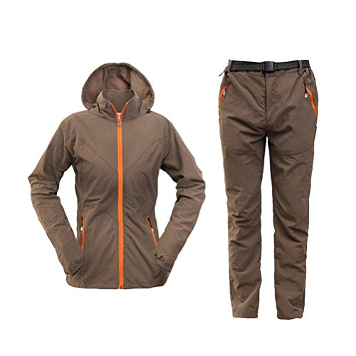 Zhhlinyuan Café Femmes Outdoor Quick Coat amp; Weight Climbing Thin drying Suits Hiking Light Pants HFrqOHw