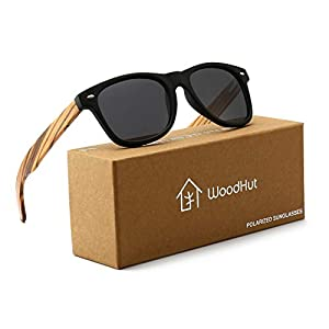74f7b083ed6 100% Polarized Natural Wooden Sunglass With Mirror Blue Polarized Lens  Gifts + Card box