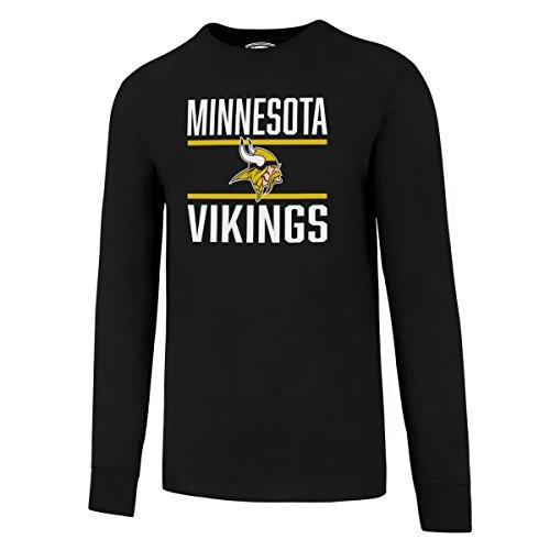 OTS NFL Minnesota Vikings Men's Alt Rival Long Sleeve Tee, Jet Black, (Viking Hats For Sale)