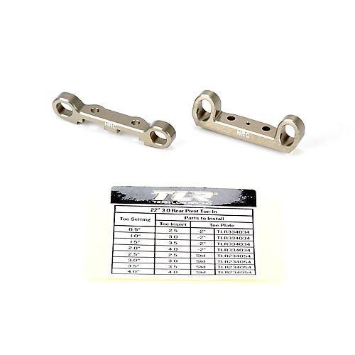 (Team Losi Racing Rear Pivot Block Set HRC Aluminum: 22 3.0 )