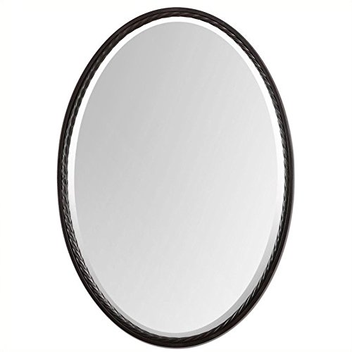 (Beaumont Lane Oval Wall Mirror in Oil Rubbed Bronze)