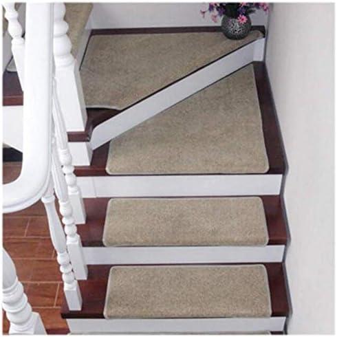 LTDT Stufenmatten ovale Treppenmatte selbstklebend rutschfest stumm verschmutzungsfrei langlebiger Schutz Home Decor Bogen Treppenteppich 65 x 24 cm grau 5 St/ück