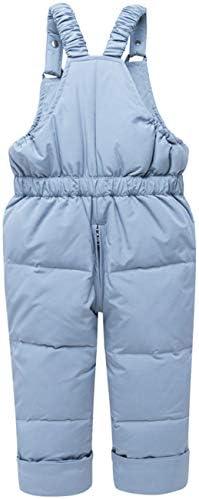 JELEUON Baby Girls Two Piece Winter Warm Hooded Fur Trim Snowsuit Puffer Down Jacket with Snow Ski Bib Pants Outfits