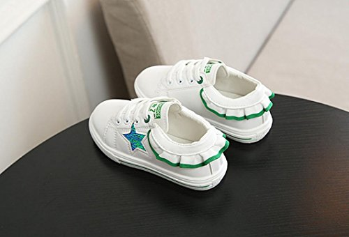 Clode® Kleinkind Kinder Mädchen Rushed Paillette Brief Sterne Sneaker Skate Baby Schuhe Grün