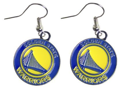 (aminco Golden State Warriors Dangle Logo Earring Set Nba Charm Gift )