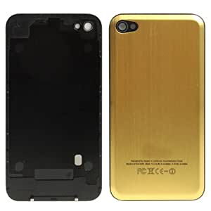 Brushed Metal Series Back Cover Replacement for iPhone 4