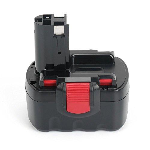 (Replace Bosch 14.4V Battery for BAT040 BAT140 BAT038 BAT140 BAT041 BAT159, 32614 33614 PSR 14.4 GSR 14.4 13614-2G 3660CK, REEXBON 14.4 Volt 2.0Ah / 2000mAh Ni-Cd Replacement Battery for Bosch)