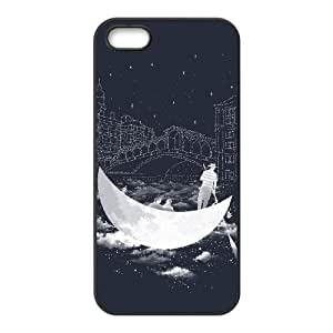 CRESCENT MOON IN VENICE iPhone 5 5s Cell Phone Case Black BSI_779455