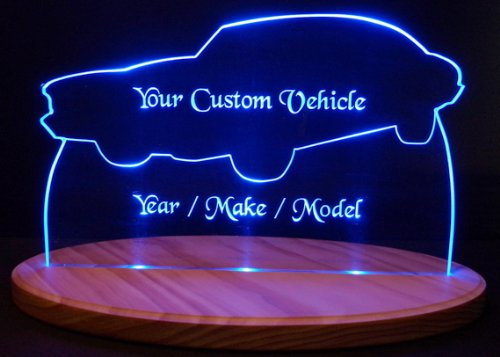 1958 Cadillac Convertible Acrylic Lighted Edge Lit 13'' LED Sign / Light Up Plaque 58 VVD12 Full Size USA Original
