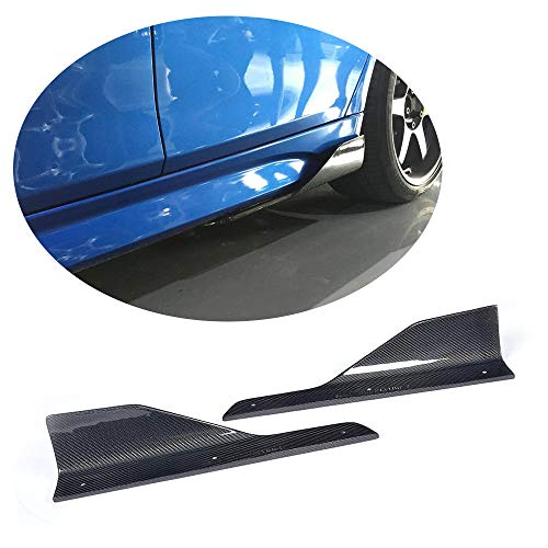 (MCARCAR KIT Side Skirt Splitter fits BMW 3 Series F30 M Sport Sedan 2012-2018 Customized 320i 325i 328i 335i M-Packet Car Carbon Fiber Moulding Door Rocker Panel Flaps Spoiler Aprons Cover)