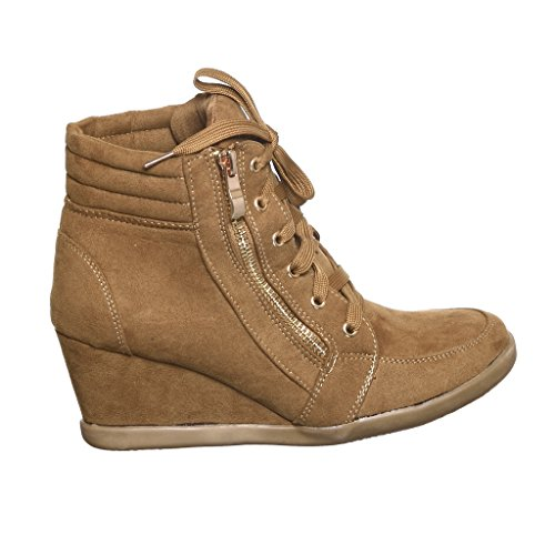 Top Sneakers Fashion shoewhatever Hi Wedge Pl Tan56 Lace up Women's CwtZqwT