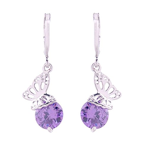 Crystal Nickel Monarch - DaisyJewel Lilac Crystal Monarch Dangles