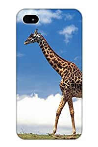 Case For Iphone 4/4s Tpu Phone Case Cover(Animal Giraffe) For Thanksgiving Day's Gift