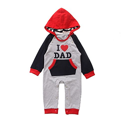 Baby Jumpsuit, MagicQK Toddler Winter Daily Costume I LOVE DAD/MOM (70cm, I Love (Toothless Costume Toddler)