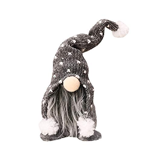 GHGNFG Christams Faceless Doll,Multi Usage Cute Christmas Hanging Gnome Christmas,New Year,party Decoration Gifts,Long beard Faceless Doll, Window Decoration,Christmas Tree Decor Ornaments Xmas Decor (11.81 x 3.93 x 1.96inch, Gray)