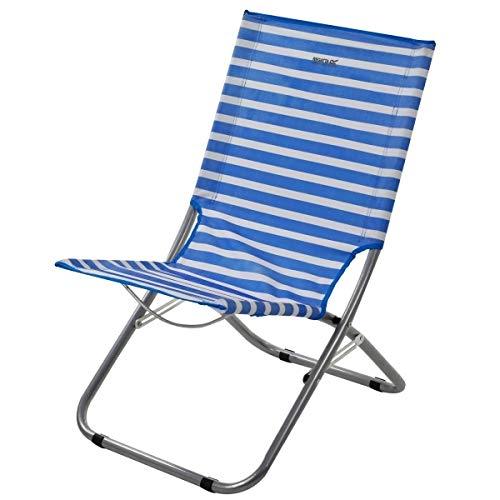 - Regatta Kruza Folding Beach Lounger French Blue/White