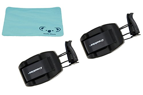 Croakies Shade Dock Sunglass & Eyeglass Car Sun Visor Clip Glasses Holder | 2pk Bundle + - Visor Eyeglass